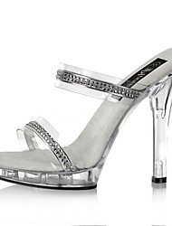 13 CM leisure Rhinestone sandals / Women's Heels Summer PVC Wedding / Party & Evening / Casual Stiletto Heel Sparkling
