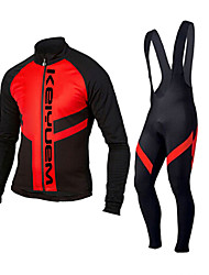 KEIYUEM®Spring/Summer/Autumn Long Sleeve Cycling Jersey+Long Bib Tights Ropa Ciclismo Cycling Clothing Suits #L101