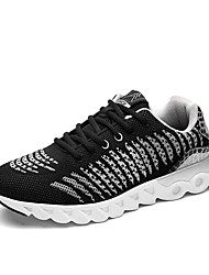 Men's Sneakers Spring / Fall Round Toe Tulle Athletic Flat Heel Others / Lace-up Black / Blue / Red Running