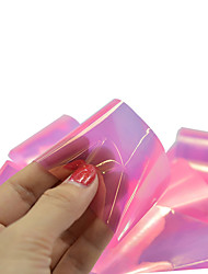 1pcs 100*4cm Nail Art DIY Glitter Shinning Pink Beautiful Color Transfer Foil Stickers BL16