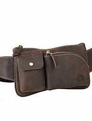 Bolsa de Cintura-Masculino-Couro de Gado-Casual / Ao Ar Livre