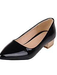 Women's Low Heels Solid Pull On Pointed Closed Toe Pumps-Shoes