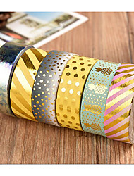 High Adhesive Gold Foil And Paper Tape Hand Account Label Sticker Adhesive Tape Hand Tear Decorative Paper Cartoon Glue