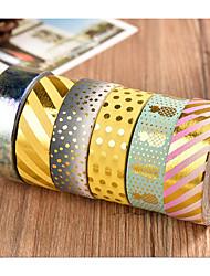 высокая адгезионная золотой фольги и бумажной ленты рука счет этикетка наклейка клейкая лента ручная слезу декоративная бумага мультфильм
