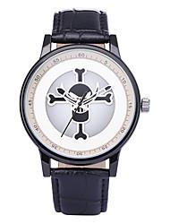 REBIRTH Pánské Dámské Módní hodinky Náramkové hodinky Unikátní Creative hodinky Křemenný / PU Kapela Czaszka Běžné nošeníČerná Bílá