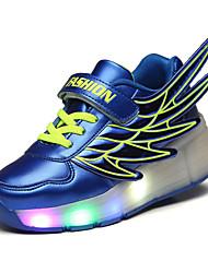 LED's Shoes Girl's Flats Summer Roller Skate Shoes PU Casual Flat Heel LED Black / Royal Blue / Fuchsia / Orange Others