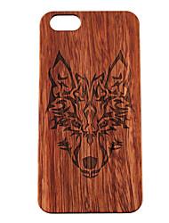 iphone 7 mais caso de madeira Timberwolves floresta lobo totem difícil tampa traseira para o iphone 6s 6 mais se 5s 5