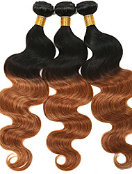Indian virgin hair body wave 3bundles #1B/#4 unprocessed Human hair weaves Cheap Indian body wave