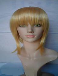 perruques blondes capless moyenne à long chaleur droite résistant perruque de cheveux synthétiques perruque costume
