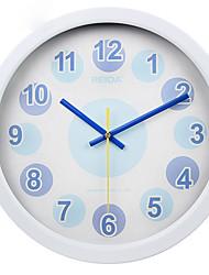 (Couleur aléatoire) 10 pouces chambre de style horloge murale de la personnalité horloge à quartz muet salon de contemporain et contracté