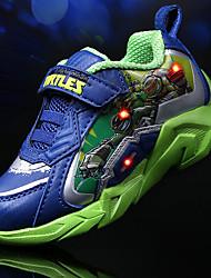 Para Meninos-Tênis-Conforto Light Up Shoes-Rasteiro-Azul Real-Tule PVC-Para Esporte