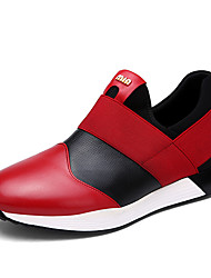 Men's Sneakers Spring Fall Suede PU Casual Flat Heel Others Red White Walking