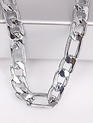 Men's 6MM Silver Chain Necklace Jewelry for Casual