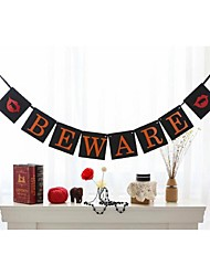 Creative Beware Halloween Banner Pennants Bunting Party decoration