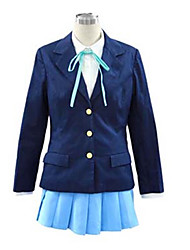 Inspired by K-ON Hirasawa Yui Anime Cosplay Costumes Cosplay Suits School Uniforms Solid Long Sleeve Cravat Coat Shirt Skirt For Female