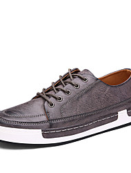 Men's Flats Spring / Fall Comfort Microfibre Outdoor / Casual Flat Heel Lace-up Yellow / Gray / Coffee Walking