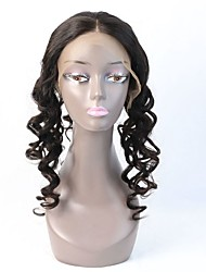 Virgin Brazilian New Lace Frontal Wig Cap 360 Frontal Clearly Middle Part Loose Wave