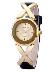REBIRTH Dámské Módní hodinky Náramkové hodinky Hodinky na běžné nošení Křemenný / PU Kapela Běžné nošení ČernáZlatá Zlatá / bílá Růžové