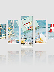 JAMMORY Canvas Set Landscape ,Five Panels Gallery Wrapped, Ready To Hang Vertical Print No Frame Fishing Tackle