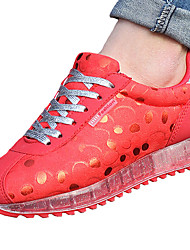 Women's Sneakers Spring Fall Comfort Synthetic Casual Flat Heel Lace-up Blue Red Fuchsia