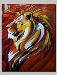 Hand Painted Animal Lion Oil Painting On Canvas Modern Wall Art Picture With Stretched Frame Ready To Hang