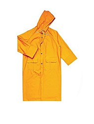 407 005 Siamese Raincoat Poncho Overalls PVC-Coated Polyester (sold JA- Yellow, XL)