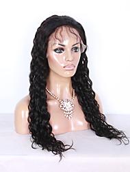 16-26 pouces couleur noire dentelle vague d'eau de façon naturelle perruque u partie brazilian dentelle cheveux vierges devant perruque