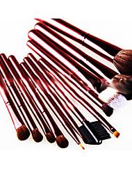 12 Conjuntos de pincel Escova de Cabelo de Cabra Portátil Madeira Rosto Outros