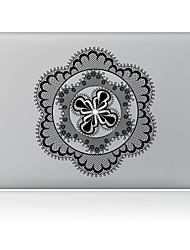 Black Flower Decorative Skin Sticker for MacBook Air/Pro/Pro with Retina