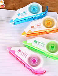 Student Stationery Cartoon Correction Tape 12 Meters (Random Color)