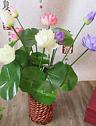 Hi-Q 1Pc Decorative Flowers Real For Wedding Home Table Decoration Lotus Artificial Flowers