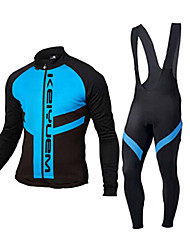 KEIYUEM®Spring/Summer/Autumn Long Sleeve Cycling Jersey+Long Bib Tights Ropa Ciclismo Cycling Clothing Suits #L99