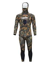 Sportif Homme Combinaison de Plongée Tenue de plongée Design Anatomique 3 à 3,4 mm Olive XS / S / M / L / XL / XXL Plongée