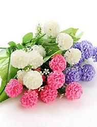 1 1 Ramo Poliéster / Couro Ecológico Outras Flor de Mesa Flores artificiais 14.17inch/36cm