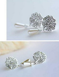 Earring Flower Drop Earrings Jewelry Women Fashion Daily / Casual Alloy 1 pair Silver
