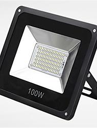 conduit la lumière imperméable à l'eau smd super slim 100w 6000k de ip66 d'inondation de jardin conduit mettant en lumière (220v)