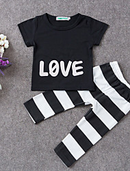 Baby Casual/Daily Print Clothing Set-Cotton-Summer-