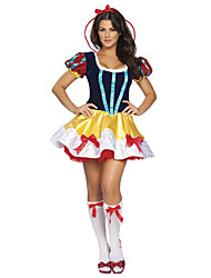 Costumes Princess series Costumes Halloween / Christmas / Carnival Red / Yellow Vintage Snow White Dress