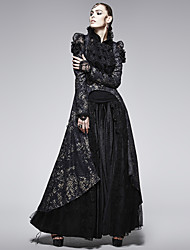 Punk 567 y-coat delírio das mulheres do vintage de médio e longo manga longa