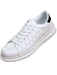 Men's Sneakers Spring / Fall Comfort PU Athletic Flat Heel  Black / White / Black and White Walking
