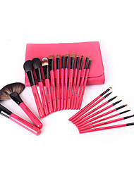 22 Pieces Of Red Wood Handle Makeup Brush Sets High-End White Tip Of Wool