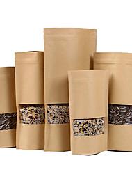 fourniture de fenêtre auto soi-disant sac en papier kraft noix de thé composites emballage alimentaire sacs par paquet de dix