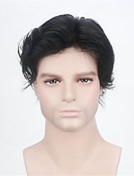 Человеческие волосы 100% швейцарский шнурок мужской тупею моно база с о.е. все вокруг естественных черного цвета мужские парики волос