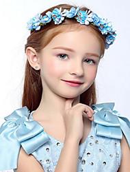 голубой девушки цветка розового цветка венки для свадебных украшений волос партии