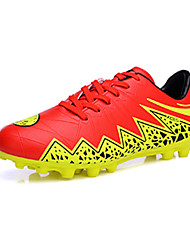 Boy's Athletic Shoes Spring Fall Synthetic Athletic Flat Heel Lace-up Black Blue Red Silver Soccer