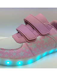 Unissex-Tênis-Conforto Light Up Shoes-Rasteiro-Azul Rosa-Sintético-Ar-Livre Casual Para Esporte