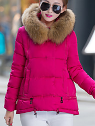 Damen Gefüttert Mantel - Einfach / Street Schick Langarm Polyester