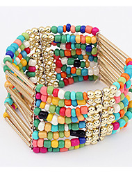 Bohemia Style Acrylic Beads Strand Bracelet for Women