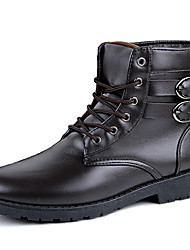 Men Genuine Leather Boots Fashion Snow Boots