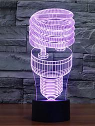 спираль касания затемнением 3D LED ночь свет 7colorful украшения атмосфера новизны светильника освещения свет рождества